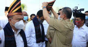 NA - IC saat menyambut Ketua Harian, Sufmi Dasco Ahmad, dan Wakil Ketua Dewan Pembina, Sandiaga Salahuddin