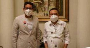 Ketua Harian Sufmi Dasco Ahmad dan Wakil Ketua Dewan Pembina Sandiaga Salahuddin Uno ke Sumbar untuk kemenangan NA-IC