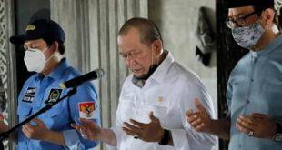 Ketua DPD RI AA LaNyalla Mahmud Mattalitti berdoa atas meninggalnya Wakil Walikota Probolinggo