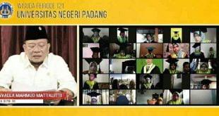 Ketua DPD RI AA LaNyalla Mahmud Mattalitti orasi di Wisuda Universitas Negeri Padang, Sabtu 19 Desember 2020