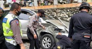 Kapolres Padang Panjang, AKBP Apri Wibowo SIK di TKP