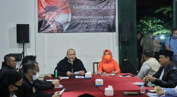 Rapat Konsolidasi Anggota DPD RI Sub Wilayah Barat II