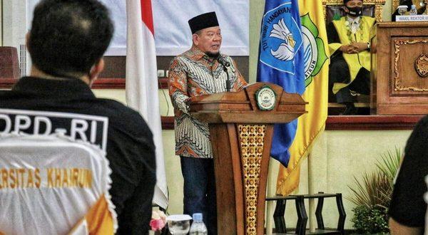 Ketua Ketua DPD RI, AA LaNyalla Mahmud Mattalitti, hadir dalam sidang terbuka Universitas Khairun, Maluku Utara