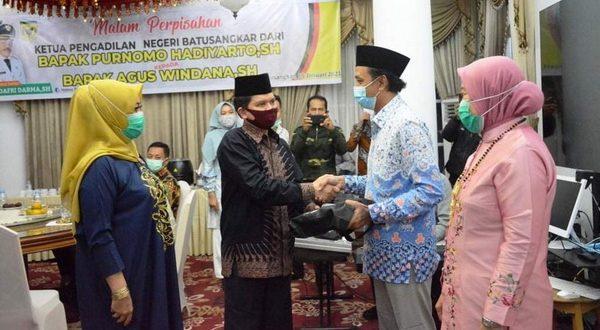 Malam perpisahan Ketua Pengadilan Negeri Batusangkar