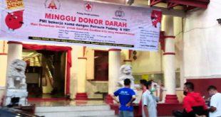 HBT Kota Padang bekerjasama dengan Polresta Padang gelar kegiatan donor darah