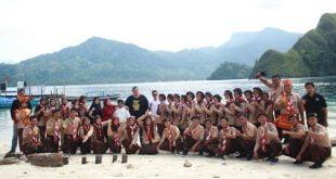 UKM Pramuka Gudep Dharmasraya laksanakan pelantikan anggota baru di Pulau Pasumpahan