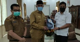 Gubernur Sumbar Mahyeldi menerima Komisi Informasi Sumbar di Istana Gubernur, Senin 29/3/2021
