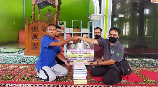 Bantuan Al Quran dari PTPN IV Kebun Timur