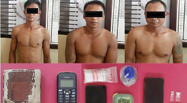 Polres Dharmasraya Ciduk, 3 Pengedar Narkoba
