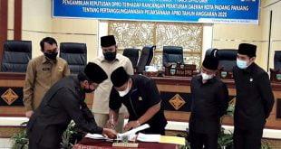 DPRD Padang Panjang Setujui Pertanggungjawaban APBD 2020 dengan Catatan