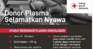 PMI Sumbar Himbau para Penyintas Covid-19 Jadi Donor Plasma Konvalesen