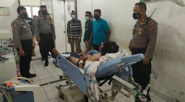 Korban tersengat listrik saat dirawat di RSUD Sungai Dareh
