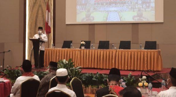 Sambutan Fadly Amran usai terpilih secara aklamasi sebagai Ketua DPW Gebu Minang