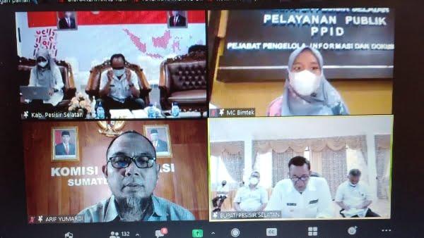 Bertekad Tetap Informatif, Pessel Gelar Bimtek Pemeringkatan untuk PPID Pembantu