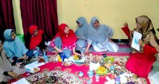 kelompok perempuan Sanggar Rangkiang Nagari Salayo, tetap berkarya di tengah pandemi covid-19